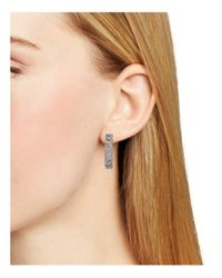 Nadri - Metallic Crystal-studded Hoop Earrings - Lyst