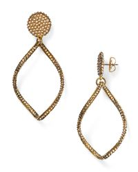 Roni Blanshay | Metallic Open Drop Earrings | Lyst