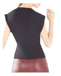 BCBGMAXAZRIA - Black Maryah Draped Wrap Top - Lyst