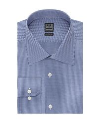Ike Behar - Blue Mini Check Classic Fit Dress Shirt for Men - Lyst