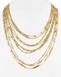 "Aqua | Metallic Bey Boho Statement Necklace, 17"" | Lyst"