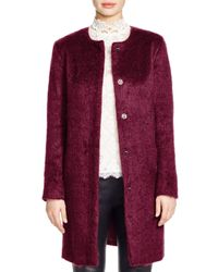 BB Dakota - Purple Brushed Wool Coat - Lyst