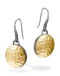 John Hardy - Metallic Sterling Silver & 18k Gold Palu Round Drop Earrings - Lyst