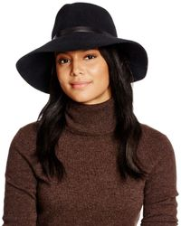 Eric Javits | Black Wide Brim Hat | Lyst