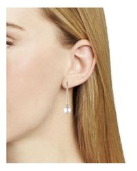 Ralph Lauren - Metallic Lauren Linear Metal Bar Drop Earrings - Lyst