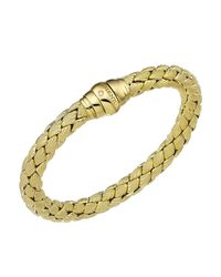 Chimento | Metallic 18k Yellow Gold Stretch Classic Collection Pyramid Shell Bracelet With Diamonds | Lyst