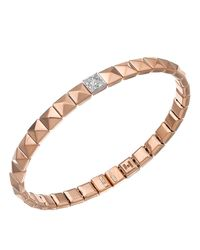 Chimento | Metallic 18k White & Rose Gold Armillas Pyramis Collection Square Link Bracelet With Diamonds | Lyst