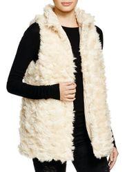 Aqua | Natural Reversible Faux Fur Vest | Lyst