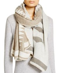 Fraas - Black Whipstitch Wrap Scarf - Lyst