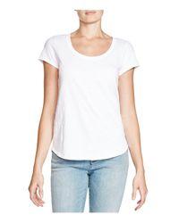 Eileen Fisher - White Organic Cotton Scoop Neck Tee - Lyst