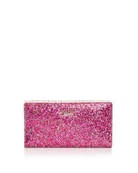 kate spade new york | Red Glitter Bug Stacy Zip Wallet | Lyst