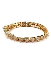 Eddie Borgo   Metallic Pave Pyramid Bracelet   Lyst