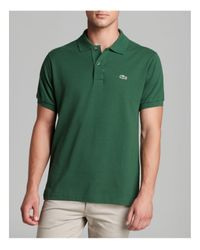 Lacoste   Green Short Sleeve Pique Polo Shirt - Classic Fit for Men   Lyst