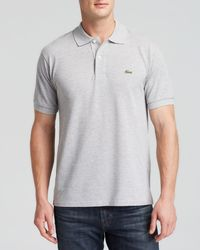 Lacoste | Metallic Short Sleeve Pique Polo Shirt - Classic Fit for Men | Lyst