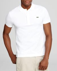 Lacoste | White Short Sleeve Pique Polo Shirt - Classic Fit for Men | Lyst