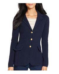 Ralph Lauren | Blue Lauren Knitted Blazer | Lyst