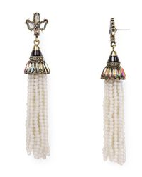 BaubleBar | Gray Aurora Tassel Drop Earrings | Lyst