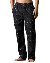 Polo Ralph Lauren   Black Pony Print Woven Pajama Pants for Men   Lyst