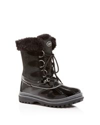 Khombu | Black Free Textured Cold Weather Boots | Lyst