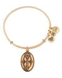 ALEX AND ANI | Metallic Key To Life Expandable Wire Bangle | Lyst
