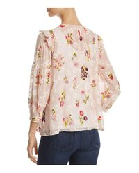 Kate Spade - Pink In Bloom Chiffon Top - Lyst