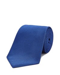 Turnbull & Asser | Blue Houndstooth Classic Tie for Men | Lyst