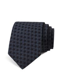 John Varvatos | Black Star Neat Skinny Tie for Men | Lyst