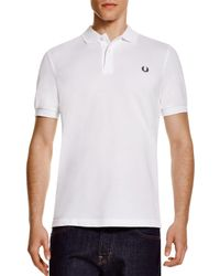 Fred Perry | White Slim Fit Pique Polo Shirt for Men | Lyst