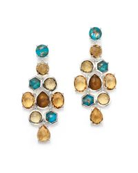 Ippolita | Multicolor 18k Rock Candy® Gelato Chandelier Earrings In Tartan Sett | Lyst