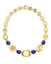 """Marco Bicego   Blue 18k Yellow Gold Lapis Collar Necklace, 18"""" - 100% Exclusive   Lyst"""