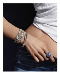 John Hardy - Sterling Silver Bamboo Lava Hook Medium Bracelet With Blue Sapphire - 100% Bloomingdale's Exclusive - Lyst