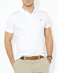 Polo Ralph Lauren | Metallic Pima Soft Touch Regular Fit Polo for Men | Lyst