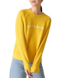 Whistles - Yellow Saturday Sweatshirt - Lyst