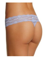 B.tempt'd - Multicolor Lace Kiss Thong #970182 - Lyst