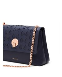Ted Baker | Multicolor Mina Bow Cutout Leather Crossbody | Lyst