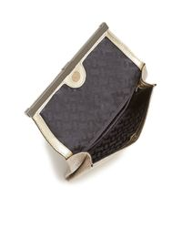 Diane von Furstenberg - Metallic 440 Glitter Envelope Clutch - Lyst