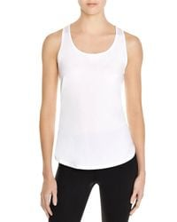 Under Armour | White Fly By Mesh Trimmed Racerback Tank | Lyst