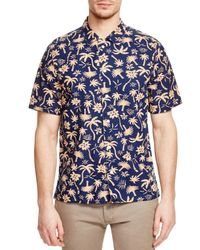 PS by Paul Smith - Blue Paul Smith Red Ear Hawaiian Slim Fit Button Down Shirt for Men - Lyst