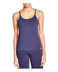 Naked - Blue Stretch Jersey Tank - Lyst