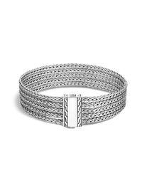 John Hardy | Metallic Sterling Silver Classic Chain Five-row Bracelet | Lyst