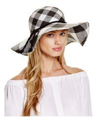 Aqua - White Two-tone Floppy Hat - Lyst