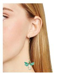 Aqua - Green Allisyn Floral Drop Earrings - Lyst