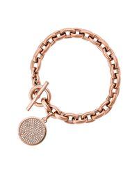 Michael Kors - Metallic Monogram Toggle Bracelet - Lyst