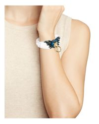 Alexis Bittar - White Lucite Feathered Parrot Hinge Bangle - Lyst