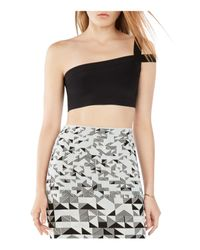 BCBGMAXAZRIA - Black Jacky Crop Top - Lyst