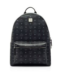 MCM | Blue Visetos Large Stark Backpack for Men | Lyst