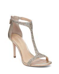 Imagine Vince Camuto | Metallic Phoebe Glitter T Strap High Heel Sandals | Lyst