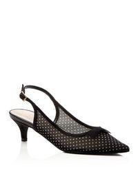 Caparros - Black Eliza Embellished Mid Heel Pumps - Lyst