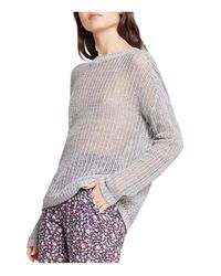 BCBGeneration | Gray Textured Knit Sweater | Lyst