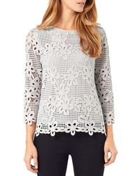 Phase Eight - Multicolor Marin Crochet Lace Blouse - Lyst